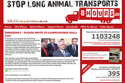 Messages to Commissioner Dalli can be sent from the 8hours website